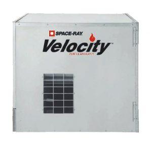 Nagrzewnica gazowa agro Space-Ray Velocity VF80 z otwartą komorą spalania.