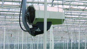 Holenderska uprawa roślin pod osłoną aktywnie korzystająca z nagrzewnic agro Winterwarm ECO.